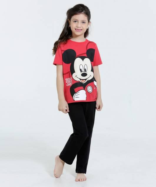 Pijama Disney Infantil do mickey feminino