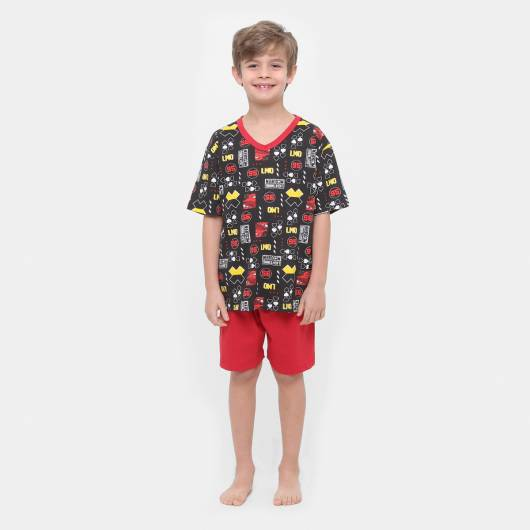 Pijama Disney Infantil carros menino