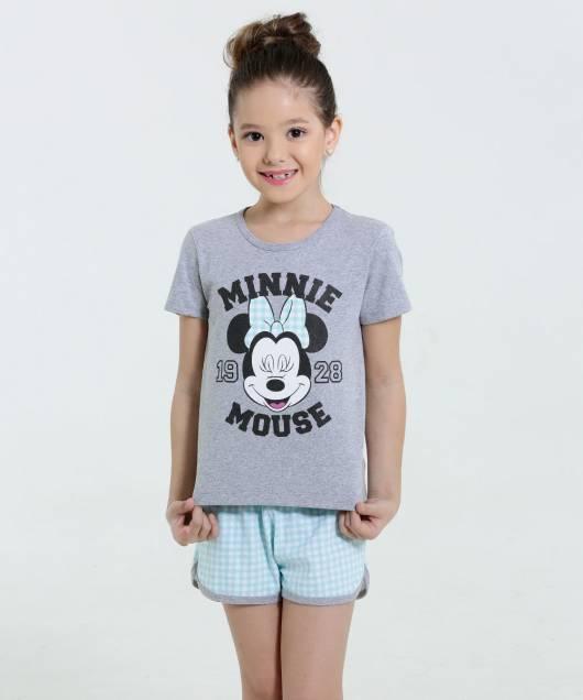 Pijama Disney Infantil manga curta menina
