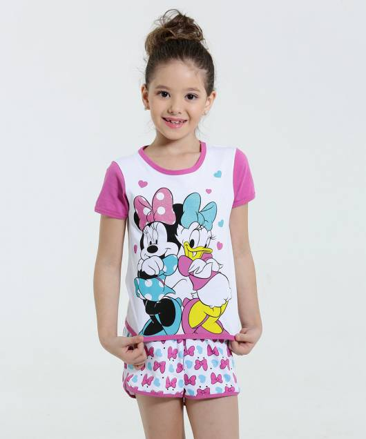Pijama Disney Infantil margarida e minnie