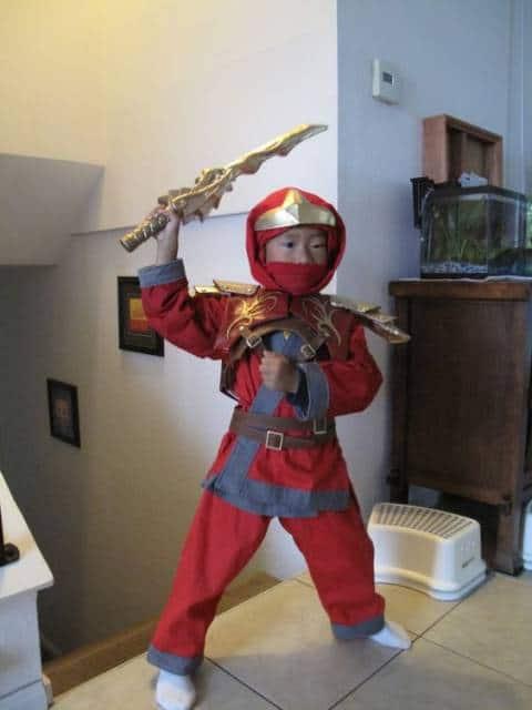 fantasia Ninjago vermelho