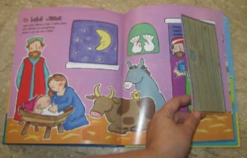Livro infantil interativo Nascimento de Jesus