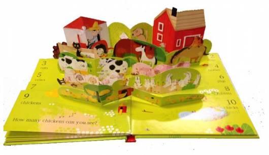 Livro infantil 3D A Fazenda