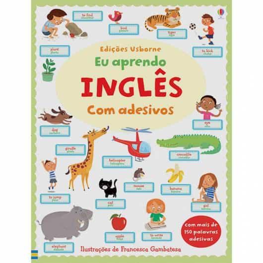 Livro infantil em Inglês Eu Aprendo Inglês com Adesivos