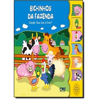 Livro infantil com som Bichinhos da Fazenda