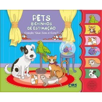 Livro infantil com som Bichinhos de Estimação