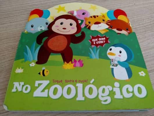 Livro infantil com som No Zoológico