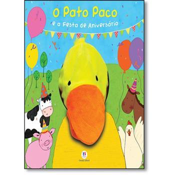 Livro infantil com Fantoche O Pato Paco