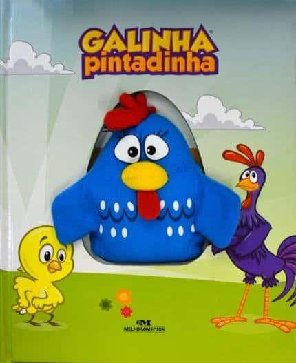 Livro infantil com Fantoche Galinha pintadinha