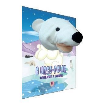Livro infantil com Fantoche O Urso Polar