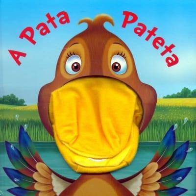Livro infantil com Fantoche A Pata Pateta