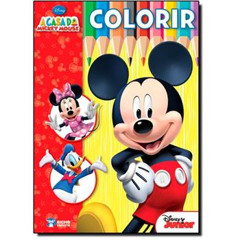 Livro infantil para colorir do Mickey