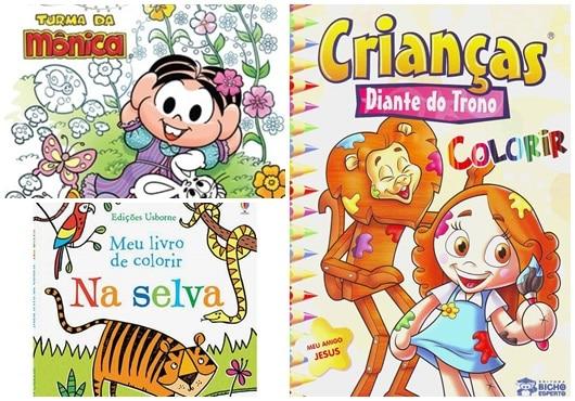 Títulos de Livro Infantil: Meu Livro de Colorir na Selva e Crianças da coleção Diante do Trono