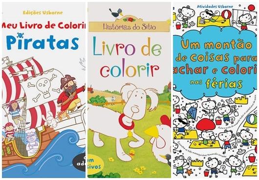 Livros para crianças colorirem