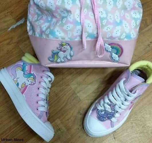 tênis rosa botinha