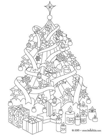 Árvores de natal para colorir