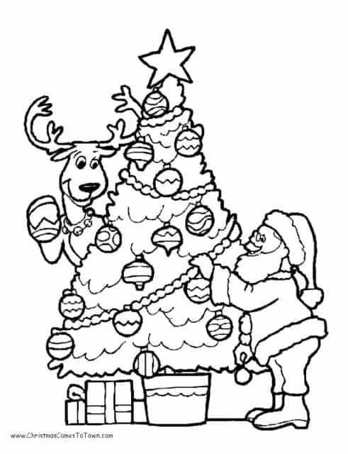 50 árvores De Natal Para Colorir Imprimir Grátis Para As Crianças