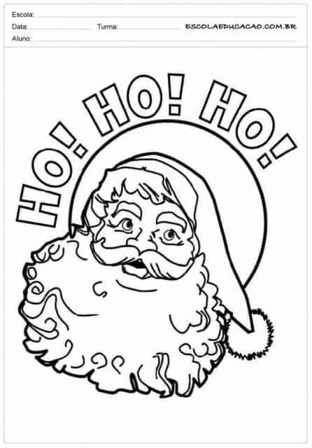 Atividades de Natal para colorir Papai Noel