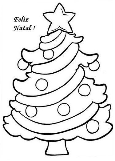 Atividades de Natal para colorir árvore de Natal