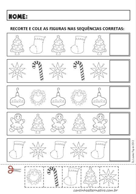 Atividades de Natal para alfabetização