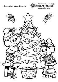 Atividades de Natal para colorir da Turma da Mônica