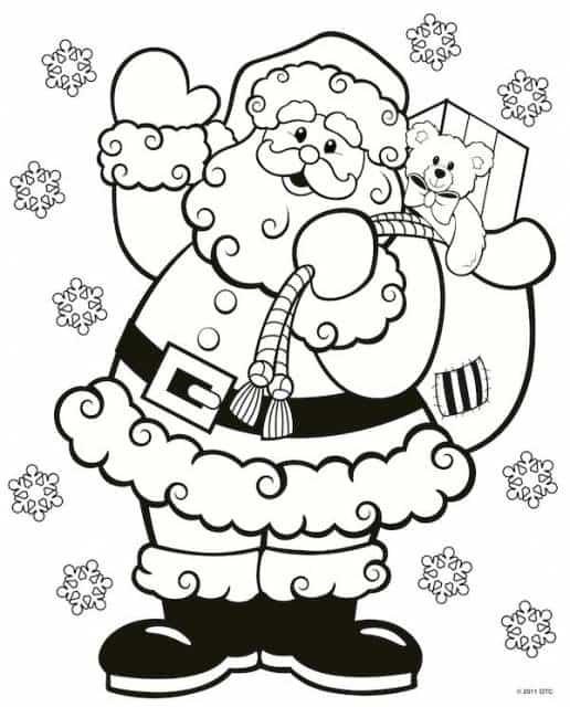 Atividades de Natal para colorir