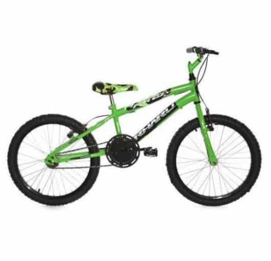 bicicleta verde sem rodinhas