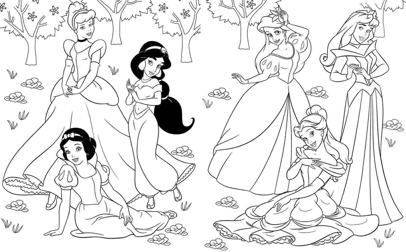 Desenhos De Princesas Para Colorir 31 Desenhos Para Imprimir Gratis