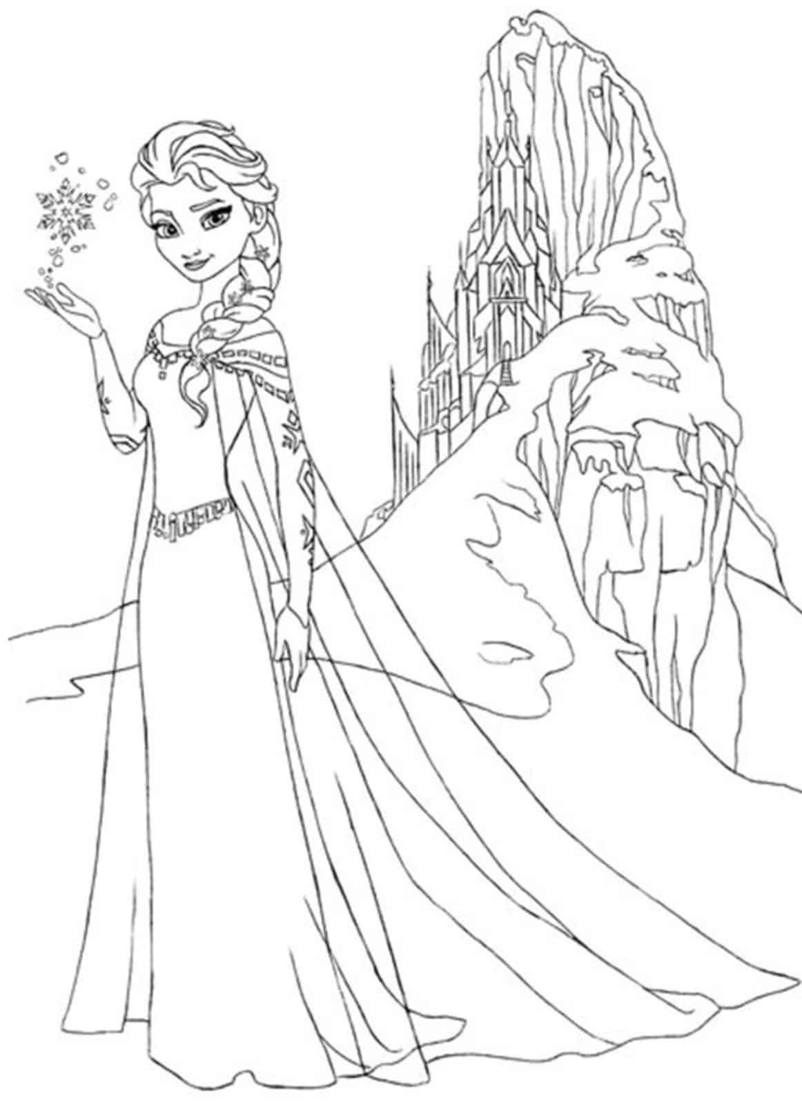 princesa Elsa e o castelo