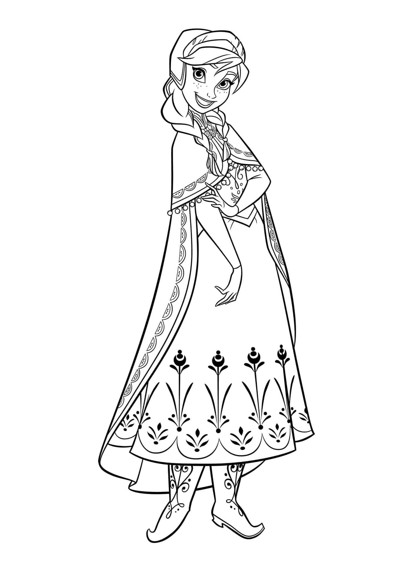 desenho grátis Anna