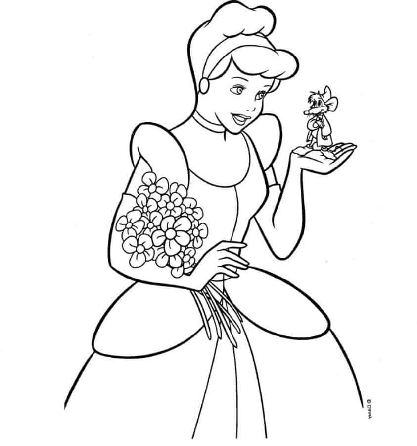 desenho grátis Cinderela