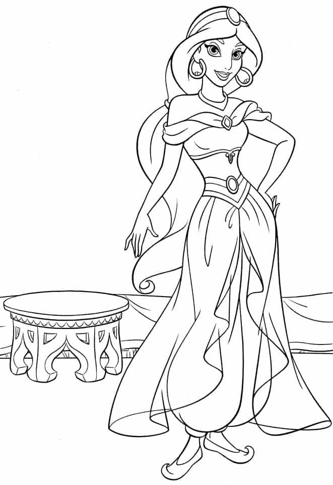 desenho grátis Jasmine