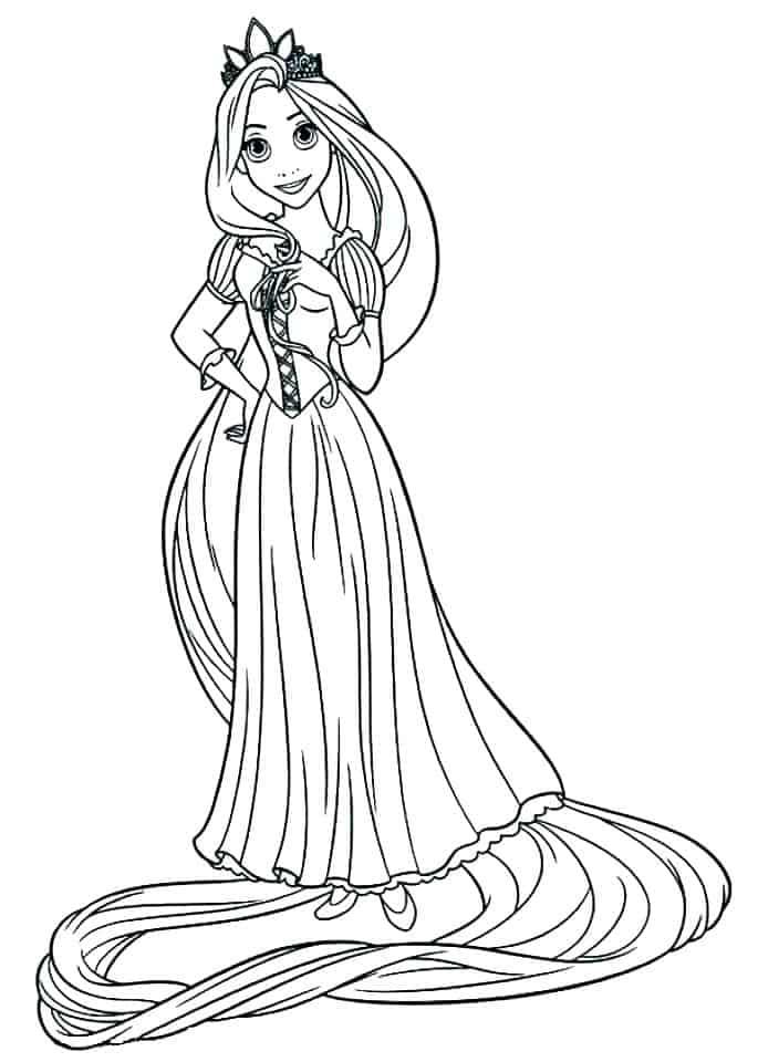 desenho Rapunzel