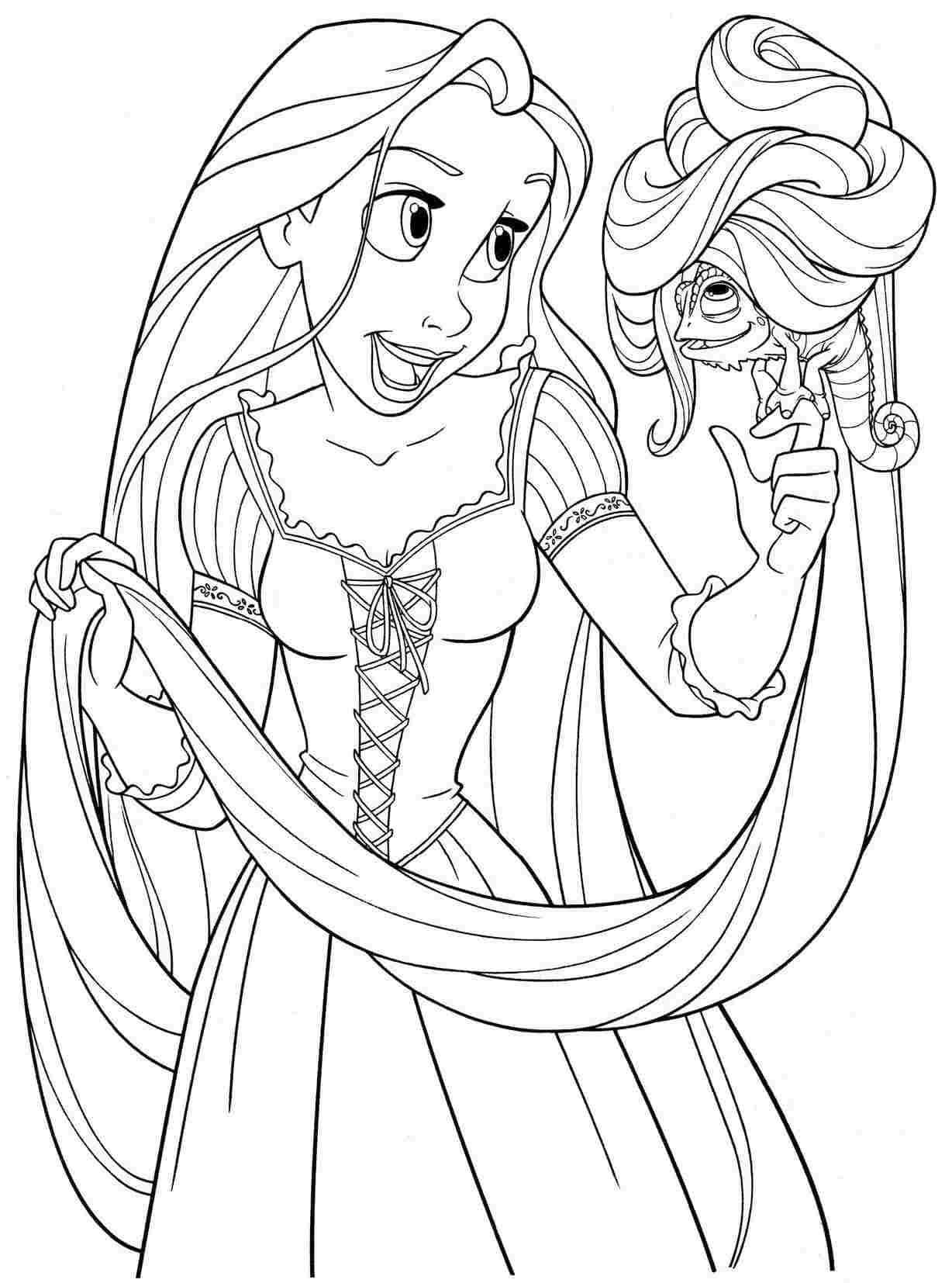 desenho grátis Rapunzel