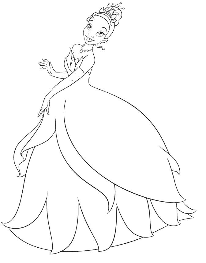 desenho grátis princesa Tiana