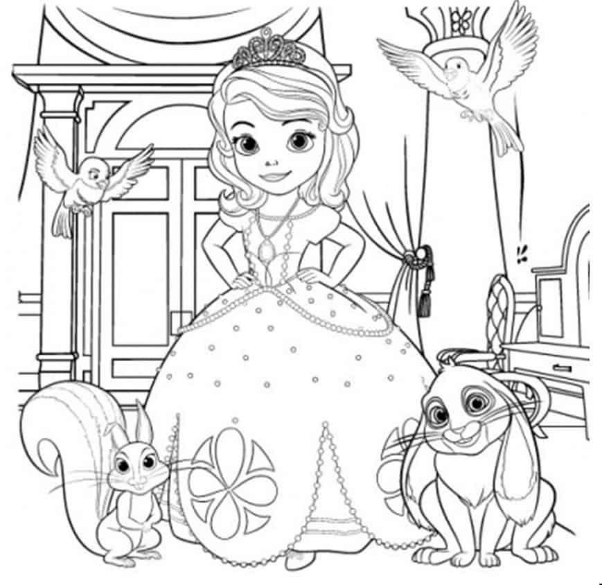 desenho grátis princesa Sofia