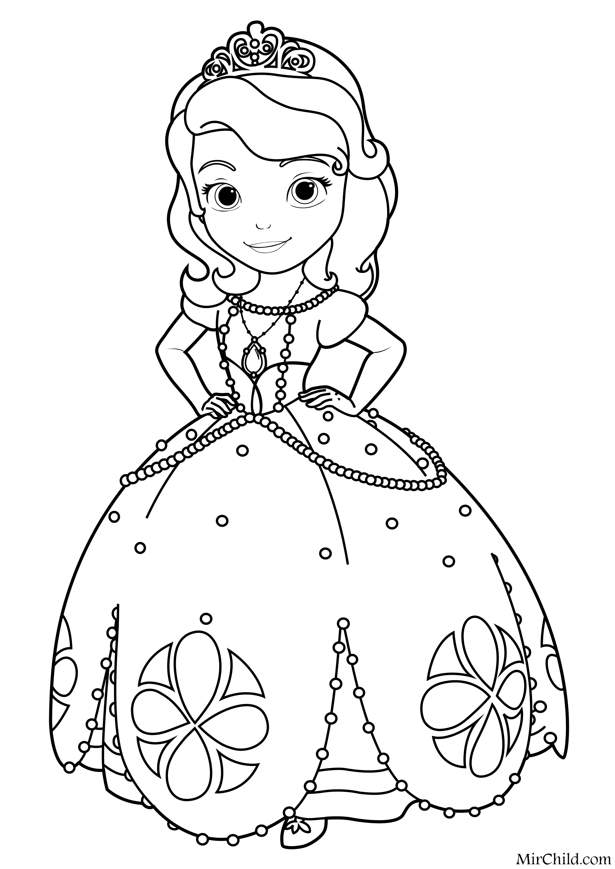 desenho para imprimir princesa Sofia