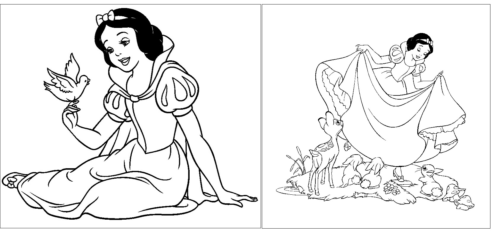 desenhos grátis Branca de Neve
