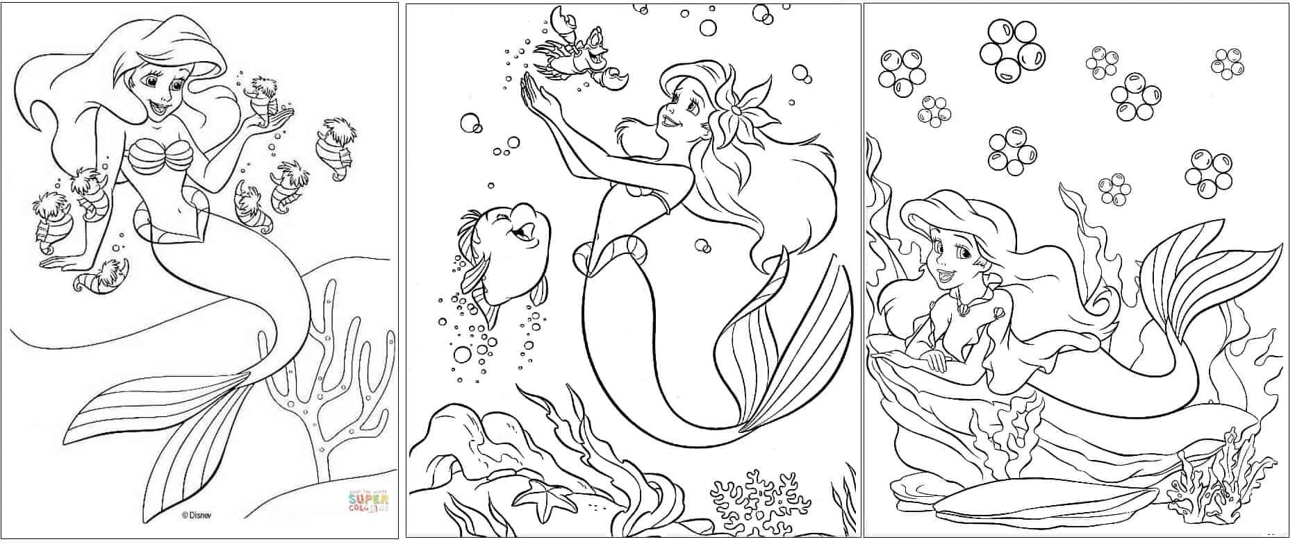 desenhos grátis Ariel