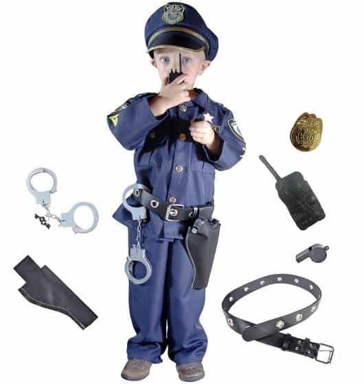 Fantasia de policial infantil para meninos com todos os adereços!