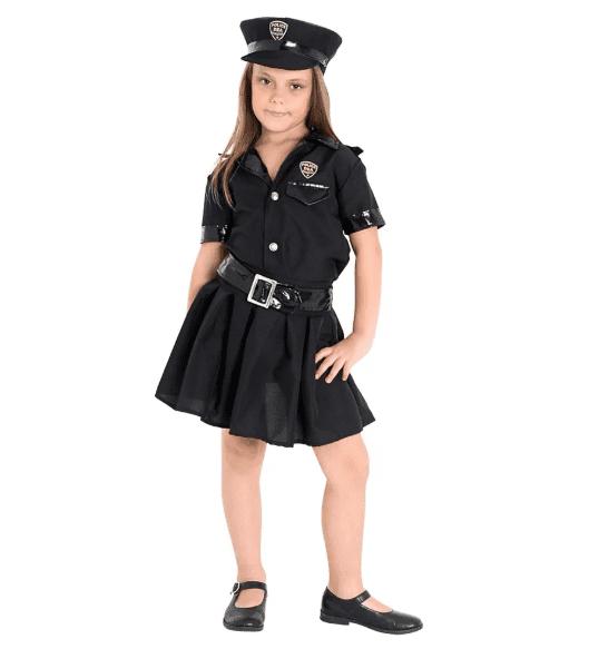 fantasia de policial infantil preta