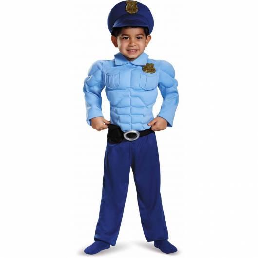 Veja só que fantasia bem divertida de policial musculoso!