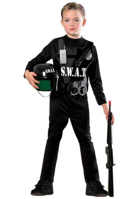 Ideia de fantasia de policial americano da Swat