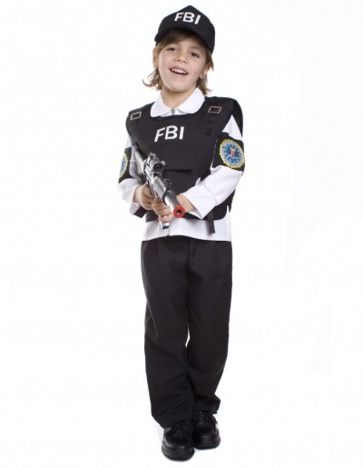 Ideia de fantasia de policial americano do FBI