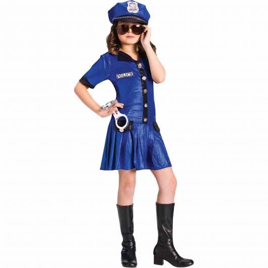 fantasia de policial com óculos escuros