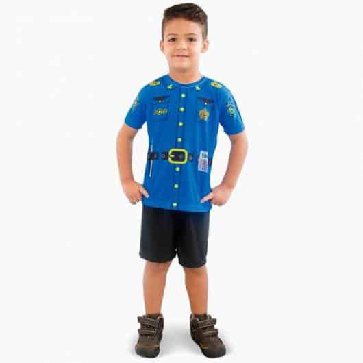 Fantasia de verão de policial para meninos