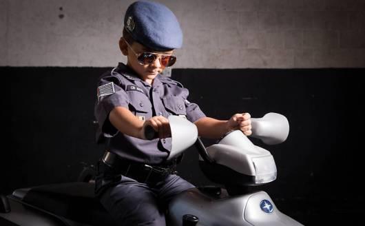 Ideia de fantasia completa de policial militar de SP