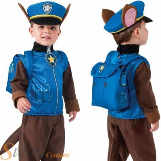 Fantasia de policial inspirada no desenho Patrulha Canina