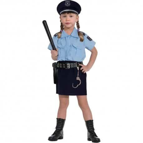 Modelo de fantasia de policial com camisa e saia