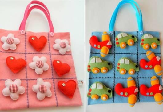Lembrancinha dia das crianças em feltro sacolinha para doces